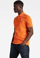 G-Star RAW - Dunda slim polo short sleeve - amber