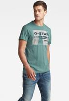 G-Star RAW - Layer originals logo gr r t short sleeve- light bright nickel