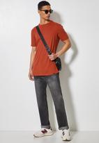 Superbalist - 2-pack barney longline curved hem tee - white & rust