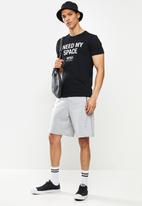 STYLE REPUBLIC - Buz nasa printed crew neck tee - black