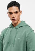Converse - Embroidered star chevron fleece pullover hoodie - teal