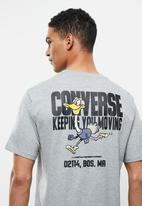 Converse - Street runner graphic tee - grey