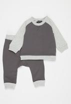 Cotton On - Tate & sully tracksuit - rabbit grey/cloud marle