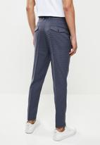 Jonathan D - Joey houndstooth check trousers - oxford blue