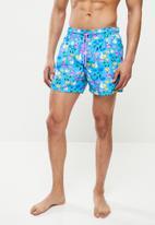 Happy Socks - Pool party swim shorts - blue