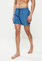 Happy Socks - Filled optic swim shorts - blue