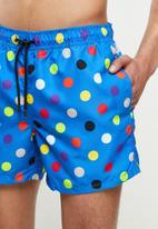 Happy Socks - Illusion dot swim shorts - blue