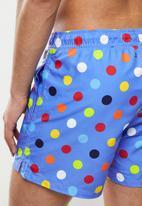 Happy Socks - Big dot swim shorts - blue