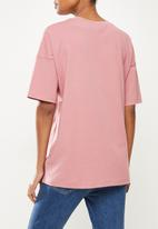 Superbalist - Cotton boxy tee - pink