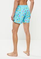 Happy Socks - Banana swim shorts - blue