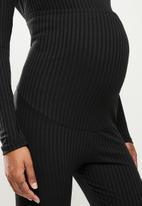 Superbalist - Foldover cuffed leggings - black