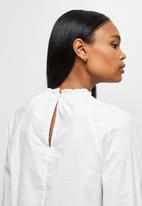 MILLA - Anglaise combo blouse - white