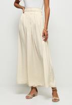 MILLA - Elasticated waist detail midaxi skirt - neutral