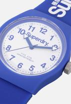 Superdry. - Silicone strap watch - blue