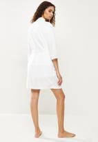 STYLE REPUBLIC - Plush robe - off white