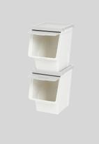 Litem - Set of 2 roomax sliding living box slim large - grey