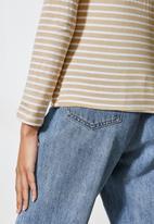 Superbalist - Striped crew neck tee - stone & white stripe