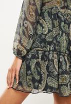SISSY BOY - Get growing button up mini dress - paisley green