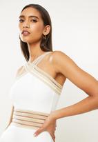 SISSY BOY - Midi dress with trim - white