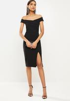SISSY BOY - Bardot midi dress - black