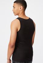 Cotton On - 2x2 rib tank - black