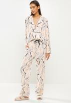 Superbalist - Sleep shirt & pants set - pink