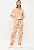 Superbalist - Sleep shirt & pants set - orange