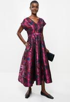 AMANDA LAIRD CHERRY - Zweli dress - navy & magenta