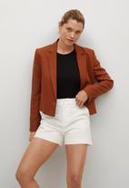 MANGO - Shorts chino - off white