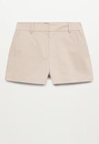 MANGO - Shorts chino - light pastel grey