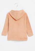 POP CANDY - Baby coral fleece hoodie - pink