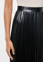 VELVET - Pu pleated a-line midi skirt