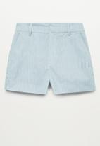 MANGO - Shorts chino - medium blue