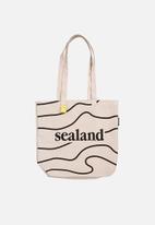 Sealand - Printed tote bag - neutral & black