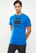 G-Star RAW - Flock hamburger logo r t - light royal blue