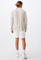 Cotton On - Cayman long sleeve shirt - stone