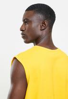 NBA - Lakers yellow retro vest (straight hem)  - yellow
