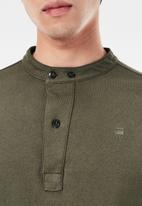 G-Star RAW - Scan collar long sleeve tee - combat