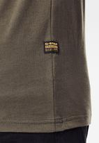 G-Star RAW - Originals stripe logo short sleeve tee - combat