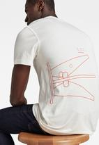 G-Star RAW - Circle object back graphic short sleeve tee - milk
