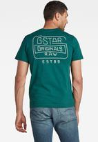 G-Star RAW - Back logo slim v-neck tee - bright laub