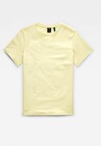 G-Star RAW - Base-s short sleeve tee - light canary htr