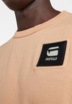 G-Star RAW - Badge logo+ short sleeve tee - warm liquid pink