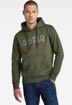 G-Star RAW - G-star hooded sweater - dk bronze green