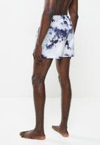 Brave Soul - Glasto tie dye shorts - navy & white
