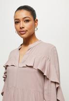 MILLA - Ruffle sleeve mini shirt - mauve