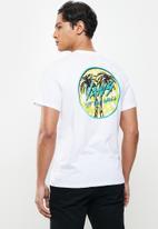 Vans - Sketched palms short sleeve - white