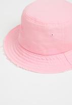 KAPPA - Leo distressed bucket hat - pink