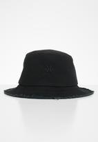 KAPPA - Dylan distressed bucket hat - black