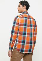 Superdry. - Workwear lite shirt - lister orange check
